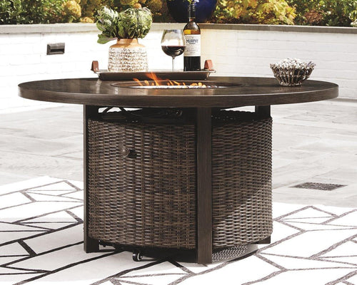 Paradise Trail Fire Pit Table P750-776 Firepits By Ashley Furniture from sofafair