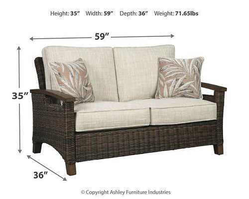 Paradise Trail Loveseat with Cushion P750-835 Seating By Ashley Furniture from sofafair