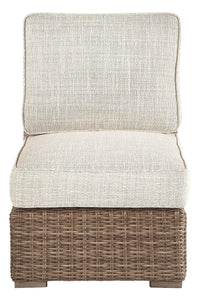 Beachcroft Armless Chair with Cushion P791-846 Seating By Ashley Furniture from sofafair