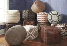Load image into Gallery viewer, Chevron Pouf A1000438