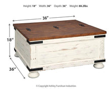 Load image into Gallery viewer, Wystfield Coffee Table T459-20 Storage