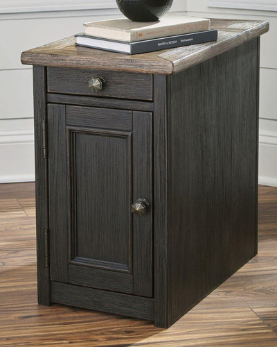 Tyler Creek Chairside End Table with USB Ports  Outlets T736-7 By Ashley Furniture from sofafair