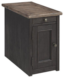 Tyler Creek Chairside End Table with USB Ports  Outlets T736-7