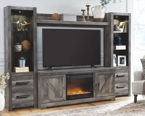 Wynnlow 4Piece Entertainment Center with Electric Fireplace W440W5 By Ashley Furniture from sofafair