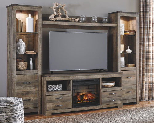 Trinell 4Piece Entertainment Center with Electric Fireplace W446W8 By Ashley Furniture from sofafair