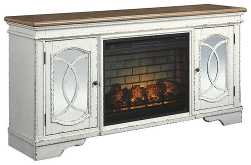 Realyn 74 TV Stand with Electric Fireplace W743W2 By Ashley Furniture from sofafair