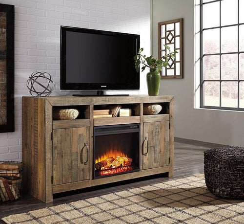 Sommerford 62 TV Stand with Electric Fireplace W775W1 By Ashley Furniture from sofafair