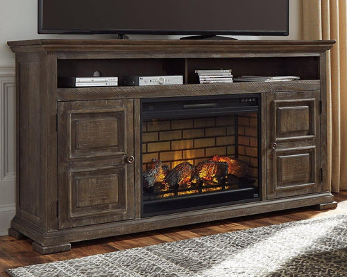 Wyndahl 72 TV Stand with Electric Fireplace W813W1 By Ashley Furniture from sofafair