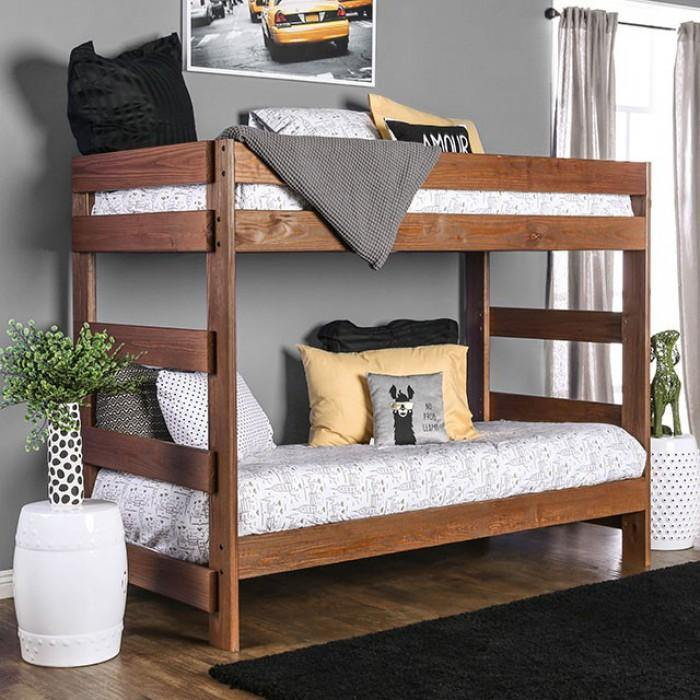 Arlette AM-BK100 Twin/Twin Bunk Bed By Furniture Of America from sofafair