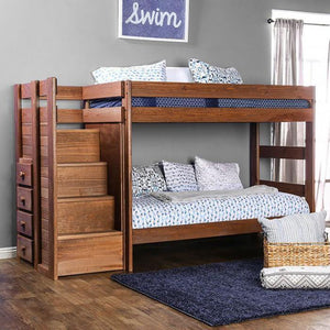 Ampelios AM-BK102 Twin/Twin Bunk Bed By Furniture Of America from sofafair
