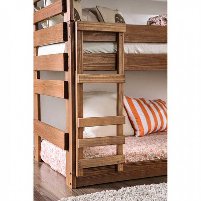 Pollyanna AM-BK500 Twin Triple Decker Bed By Furniture Of AmericaBy sofafair.com