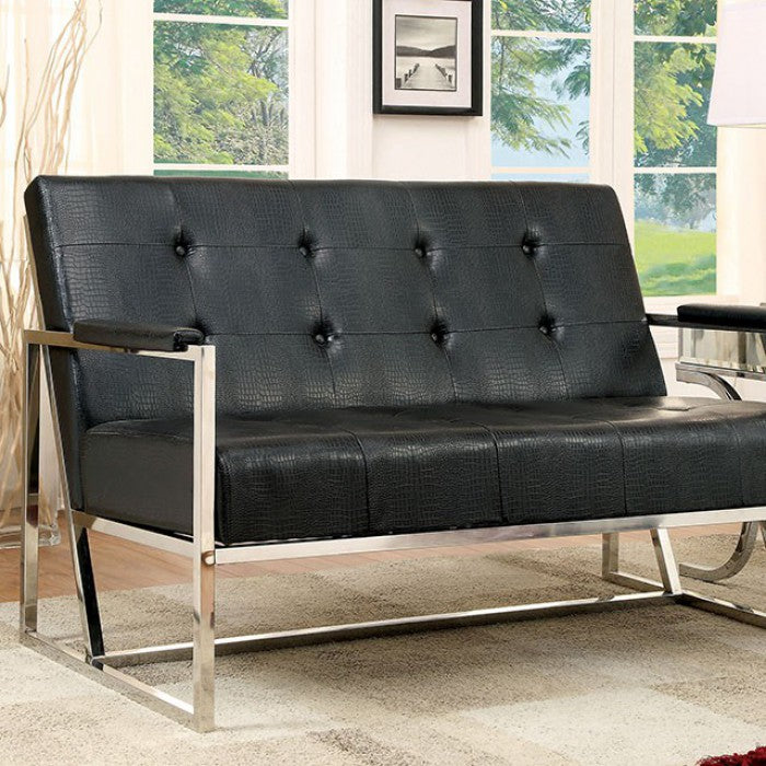 Sienna CM-AC6262BK-LV Love Seat By Furniture Of AmericaBy sofafair.com
