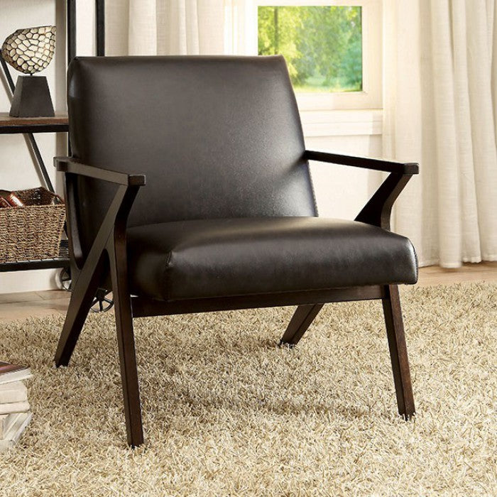 Margaux CM-AC6265BR Accent Chair By Furniture Of AmericaBy sofafair.com