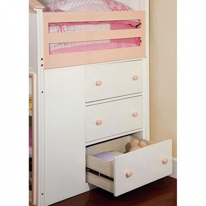 Citadel CM-BK131PW Bunk Bed By Furniture Of AmericaBy sofafair.com