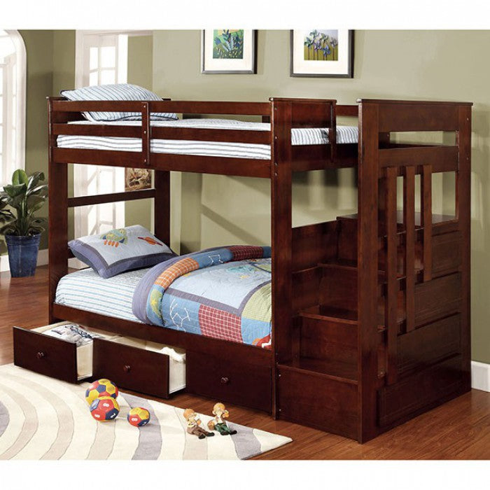 Woodridge CM-BK612 Twin/Twin Bunk Bed By Furniture Of AmericaBy sofafair.com