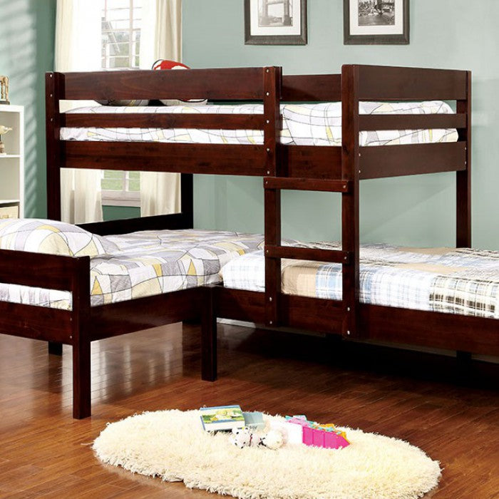Ranford CM-BK626 Twin/Twin/Twin Bunk Bed By Furniture Of AmericaBy sofafair.com