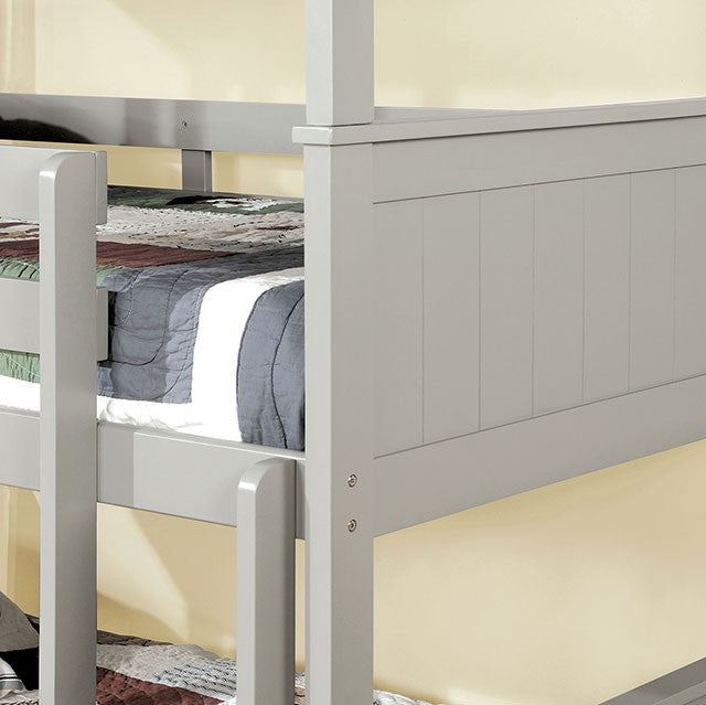 Therese CM-BK628GY Bunk Bed By Furniture Of AmericaBy sofafair.com