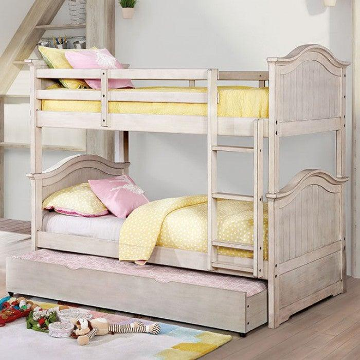 Hermine CM-BK635WH-TT-BED Twin/Twin Bunk Bed By Furniture Of AmericaBy sofafair.com