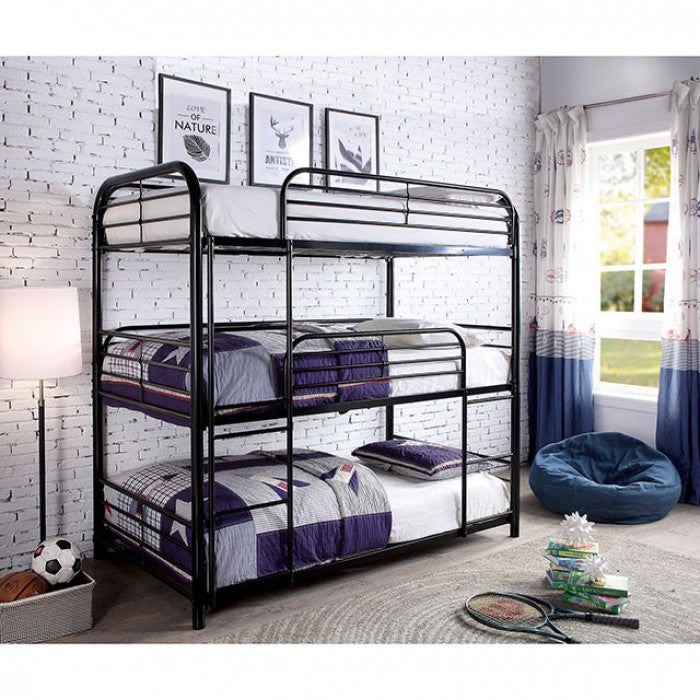 Opal CM-BK937BK Twin/Twin/Twin Bunk Bed By Furniture Of AmericaBy sofafair.com