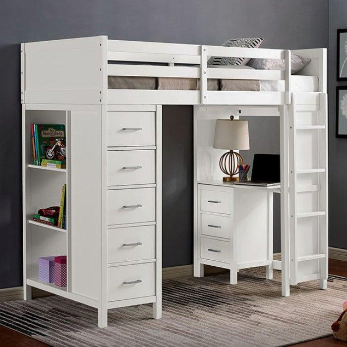 Cassidy CM-BK970 Twin Loft Bed By Furniture Of AmericaBy sofafair.com