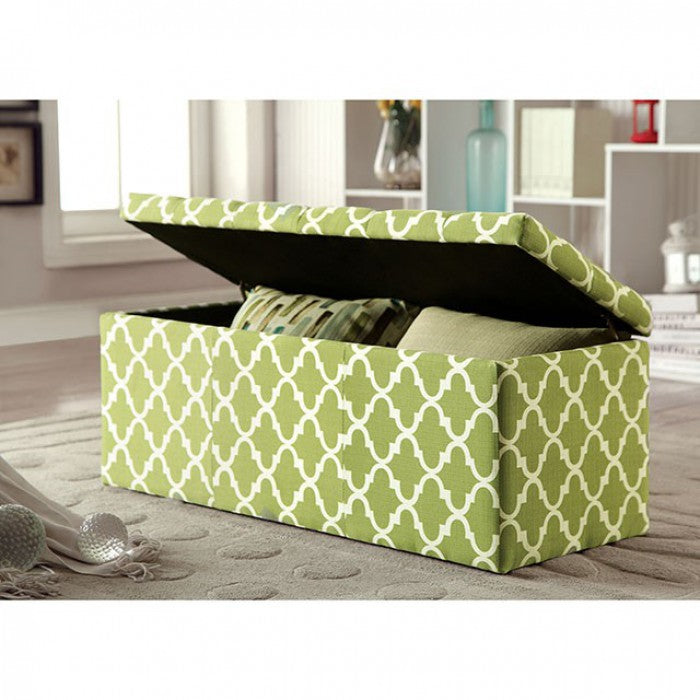Zaira CM-BN6033GR Storage Ottoman By Furniture Of AmericaBy sofafair.com