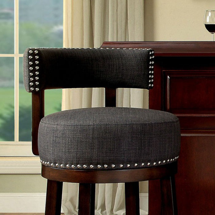 "Lynsey CM-BR6252GY-29-2PK 30"" Bar Stool (2/Box) By Furniture Of AmericaBy sofafair.com"