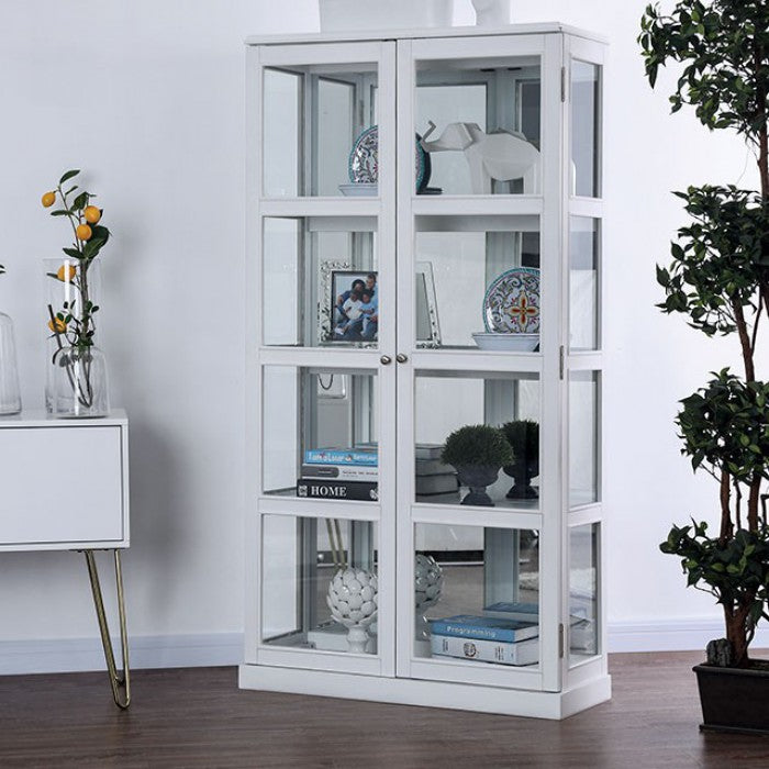 Vilas CM-CR140WH Curio Cabinet By Furniture Of AmericaBy sofafair.com