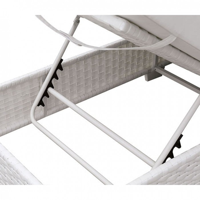 Somani CM-OS2128WH-SET19 Adjustable Chaise + End Table By Furniture Of AmericaBy sofafair.com