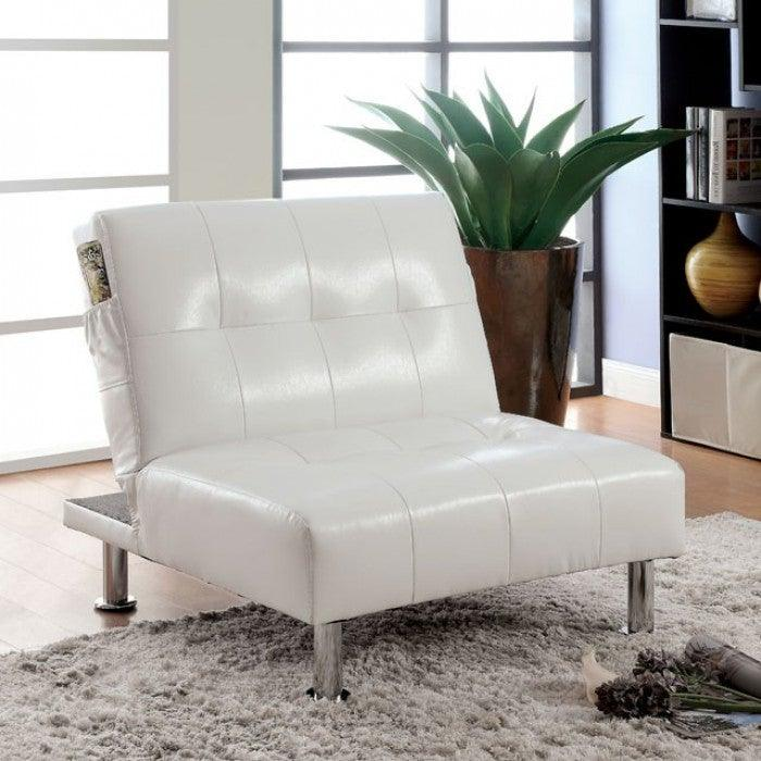 Bulle CM2669WH-CH Chair By Furniture Of AmericaBy sofafair.com