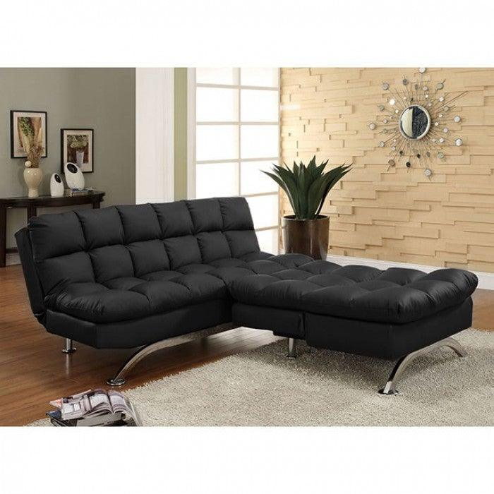 Aristo CM2906BK Futon Sofa By Furniture Of AmericaBy sofafair.com
