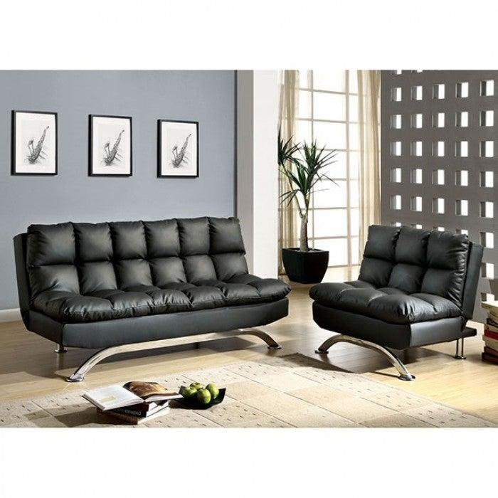 Aristo CM2906BK-CH Chair By Furniture Of AmericaBy sofafair.com
