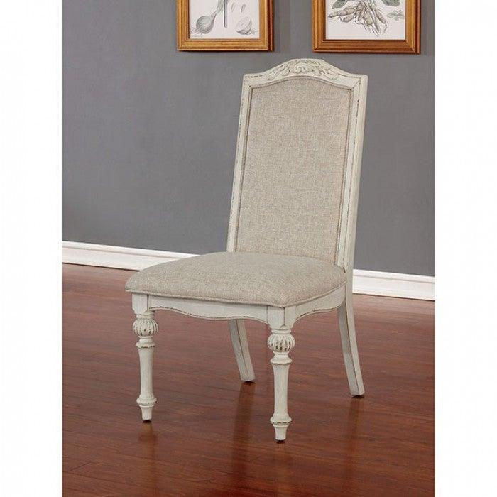 Arcadia CM3150WH-SC Side Chair (2/Ctn) By Furniture Of AmericaBy sofafair.com