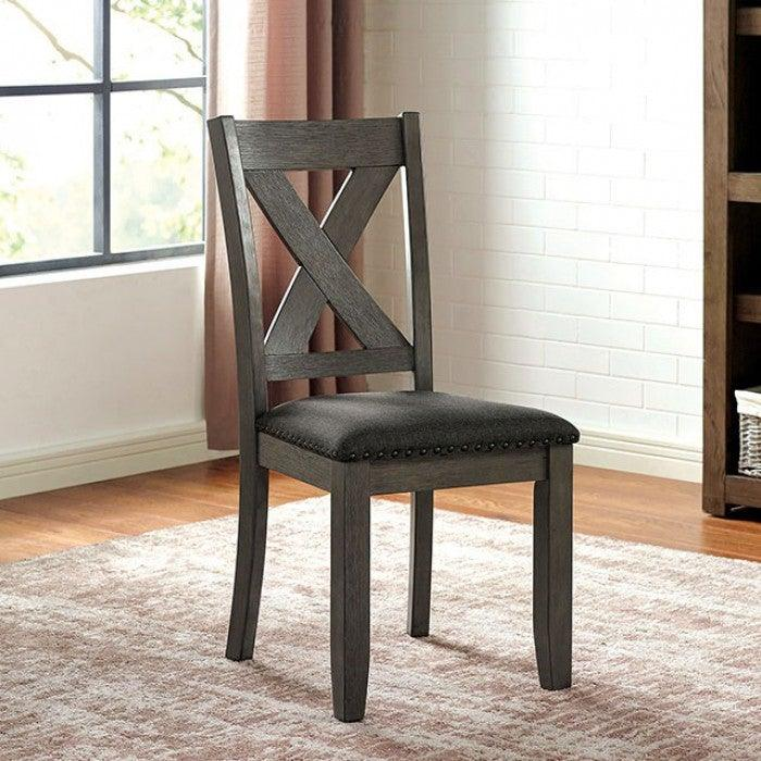 Cilgerran CM3153GY-SC-2PK Side Chair (2/Ctn) By Furniture Of AmericaBy sofafair.com