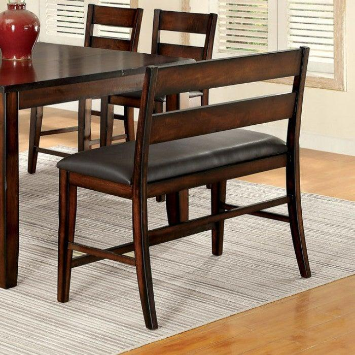 Dickinson CM3187PBN Counter Ht. Bench By Furniture Of AmericaBy sofafair.com