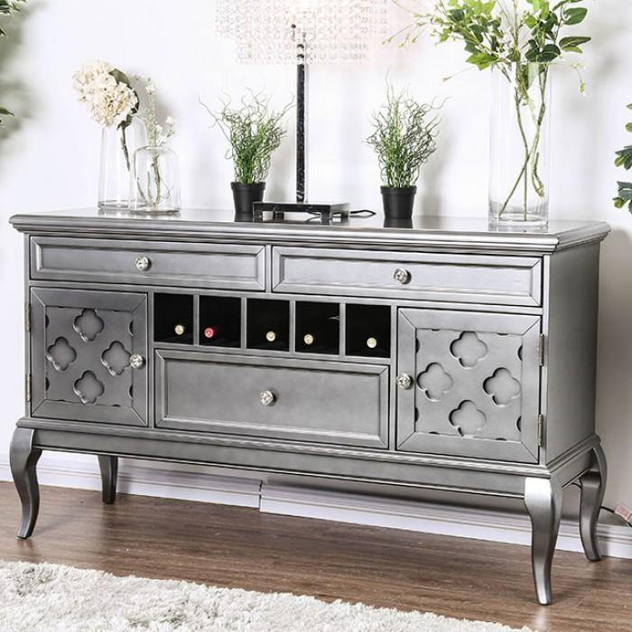 Amina CM3219GY-SV Server By Furniture Of America from sofafair