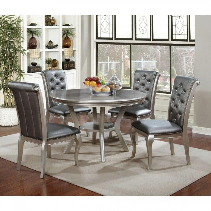 Amina CM3219RT Round Dining Table By Furniture Of AmericaBy sofafair.com