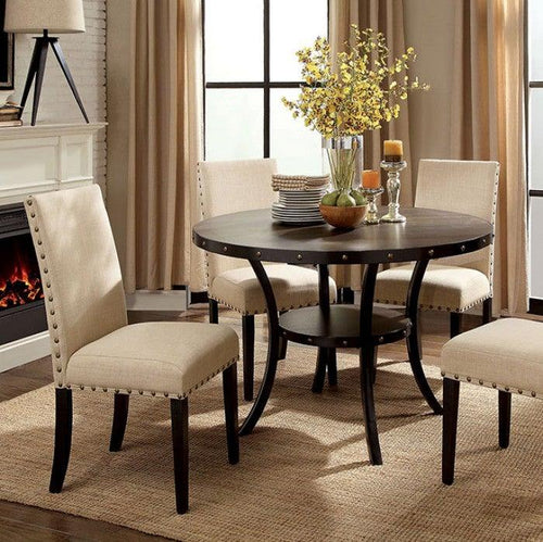 Kaitlin CM3323RT Round Dining Table By Furniture Of America from sofafair