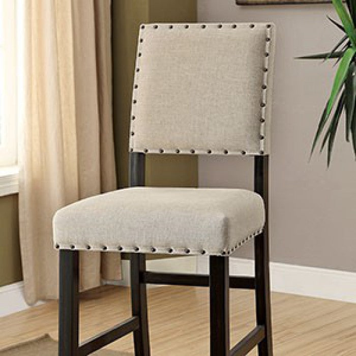 Sania CM3324BK-BC-2PK Bar Chair (2/Box) By Furniture Of AmericaBy sofafair.com