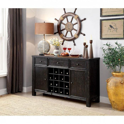 Sania III CM3324BK-SV Server By Furniture Of America from sofafair