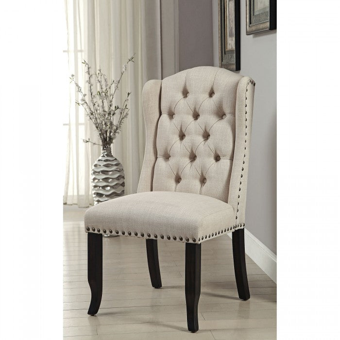 Sania CM3324BK-SC-2PK Side Chair (2/Box) By Furniture Of AmericaBy sofafair.com