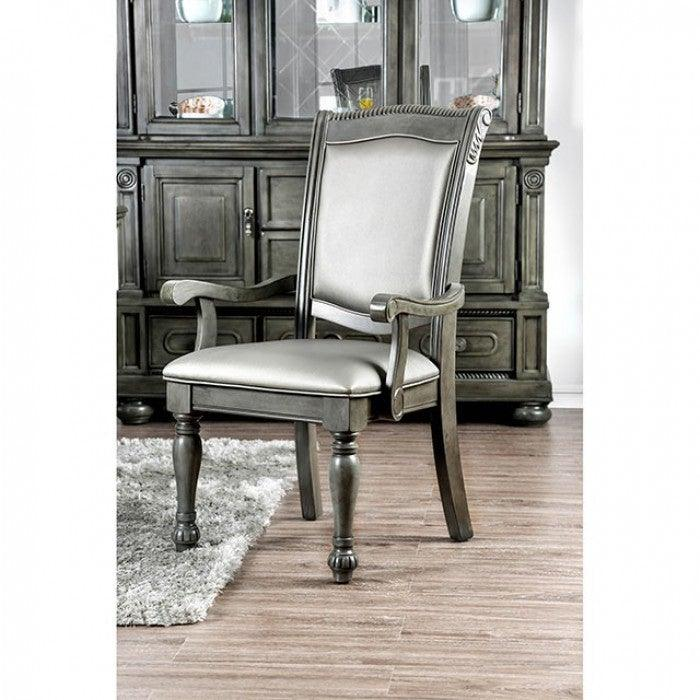 Alpena CM3350GY-AC-2PK Arm Chair (2/Ctn) By Furniture Of AmericaBy sofafair.com