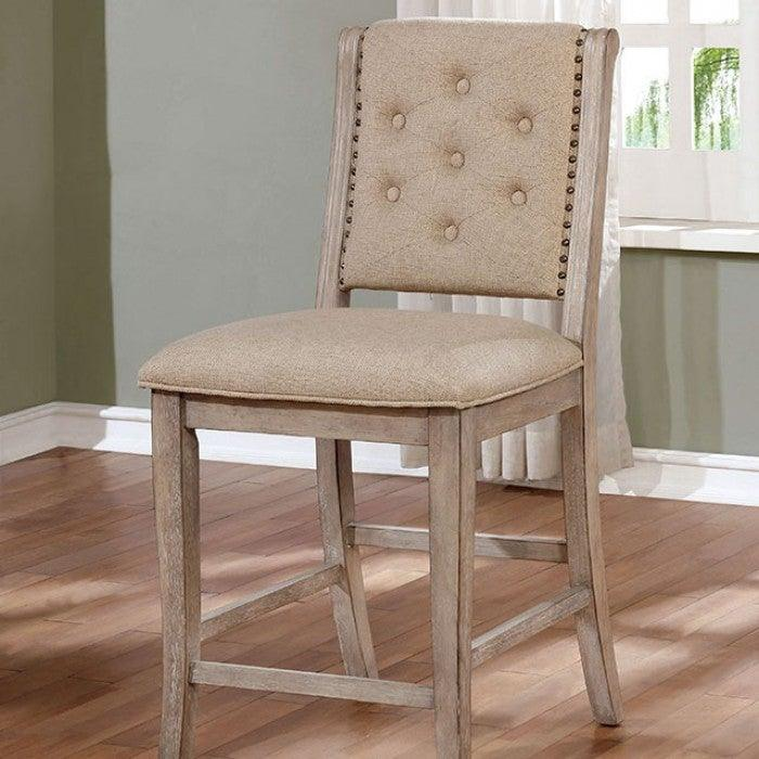 Ledyard CM3576PC Counter Ht. Side Chair (2/Ctn) By Furniture Of AmericaBy sofafair.com