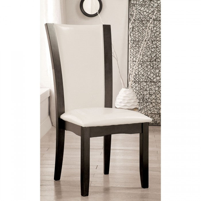 Manhattan CM3710GY-SC-2PK Side Chair (2/Box) By Furniture Of AmericaBy sofafair.com