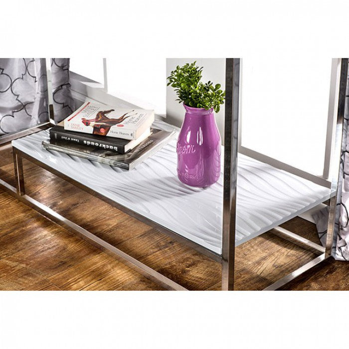 Vendi CM4231WH-S Sofa Table By Furniture Of AmericaBy sofafair.com
