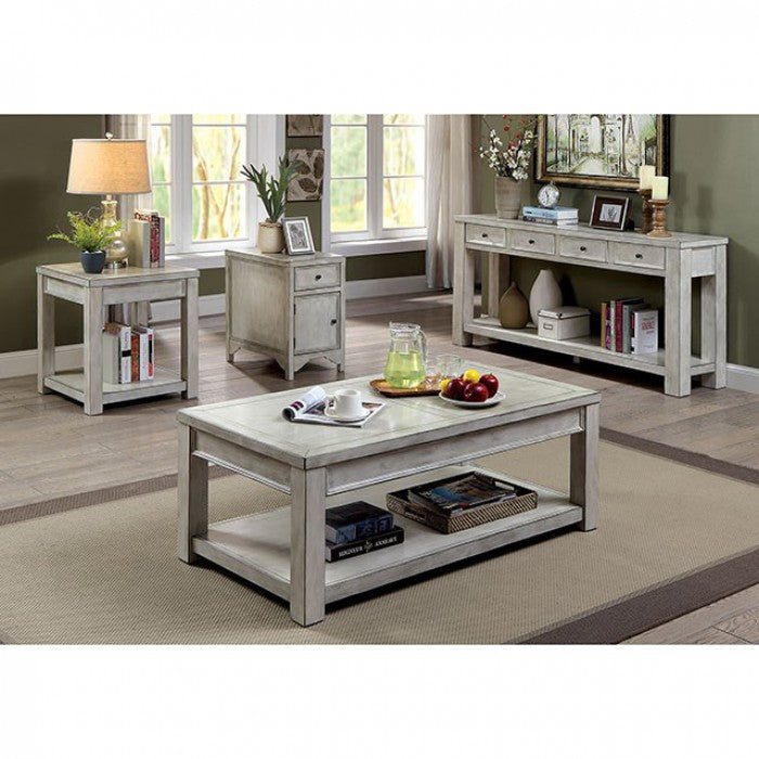 Meadow CM4327WH-S Sofa Table By Furniture Of AmericaBy sofafair.com