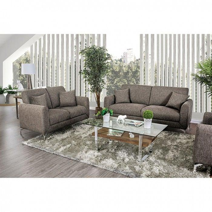 Lauritz CM6088BR-SF Sofa By Furniture Of AmericaBy sofafair.com
