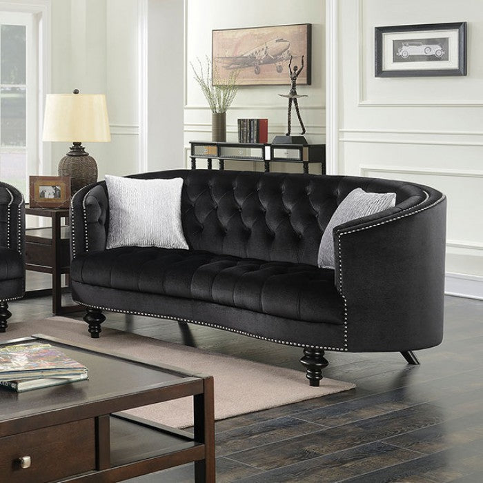 Manuela CM6145BK-LV Love Seat By Furniture Of AmericaBy sofafair.com
