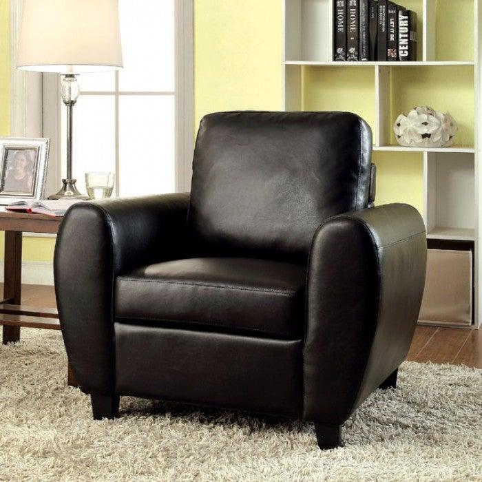Hatton CM6321BK-CH Chair By Furniture Of AmericaBy sofafair.com