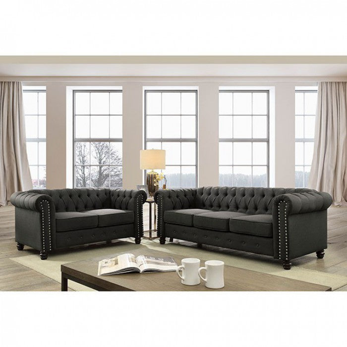 Winifred CM6342GY-LV Love Seat By Furniture Of AmericaBy sofafair.com