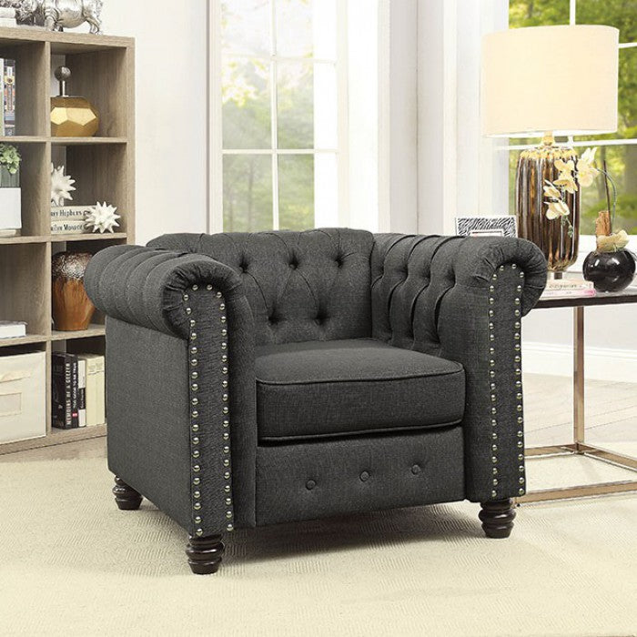 Winifred CM6342GY-CH Chair By Furniture Of AmericaBy sofafair.com